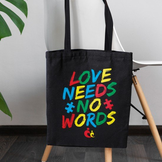 Love Needs No Words V1 - Cotton Tote Bag