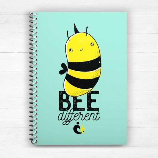 Bee Different V1 - Spiral Notebook