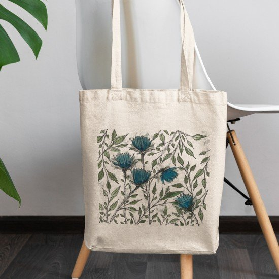 Flower Labyrinth II - Cotton Tote Bag