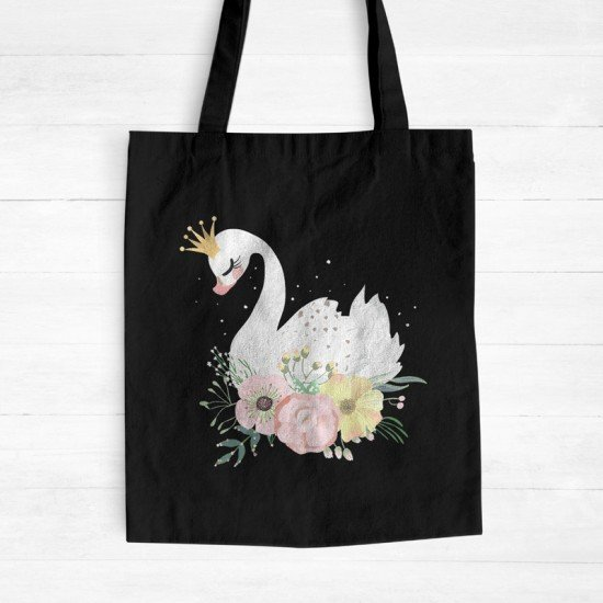 Baby Swan - Cotton Tote Bag