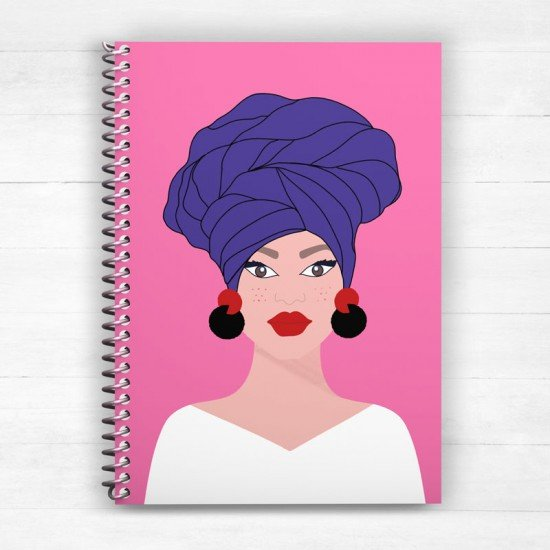 Girl with turban - Spiral Notebook