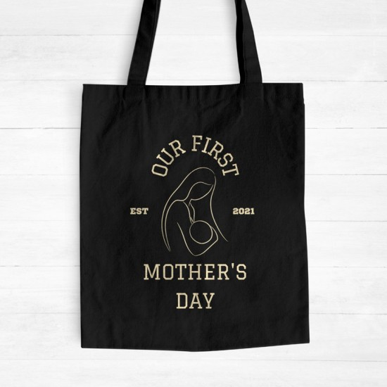 Our first Mother's Day II  - Cotton Tote Bag