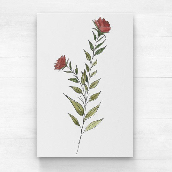 Red floral III - Canvas Print