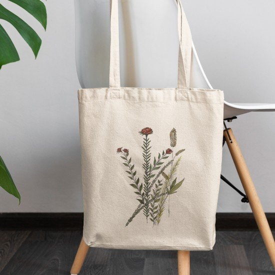 Red floral II - Cotton Tote Bag