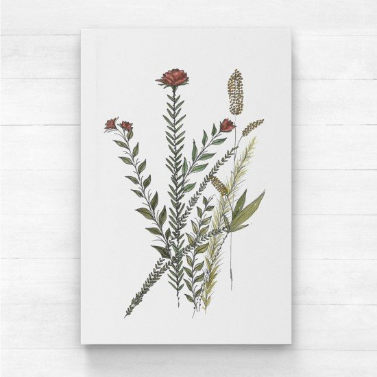 Red floral II - Canvas Print
