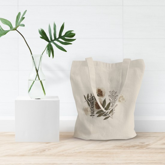 Flowers & Moons - Cotton Tote Bag