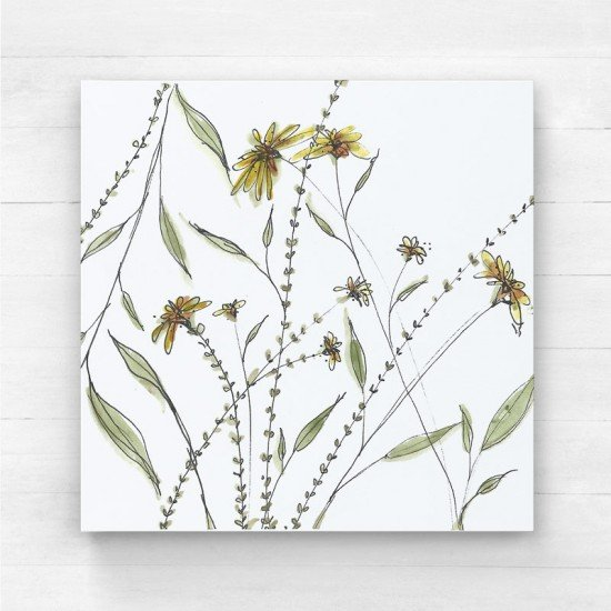 Yellow floral I - Canvas Print