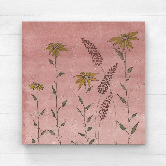 Floral with background I - Canvas Print