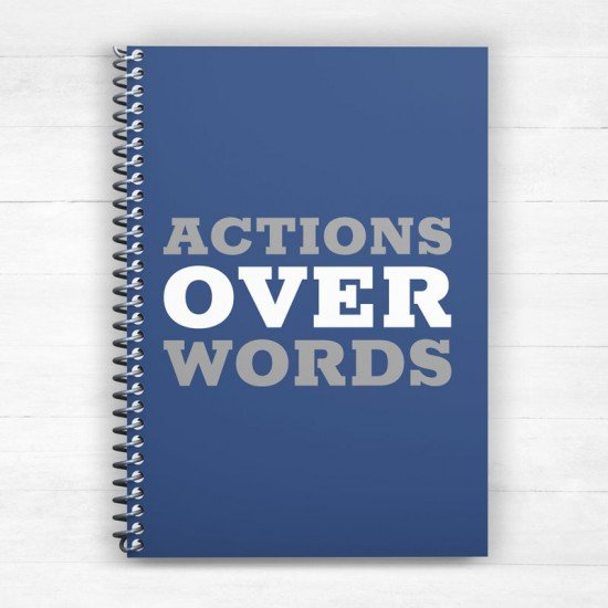 Action over Words - Spiral Notebook