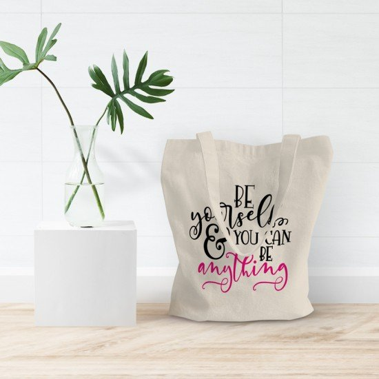 Be Yourself & You Can Be Anything - Cotton Tote Bag