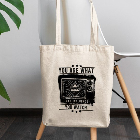 You Are What You Watch - Cotton Tote Bag