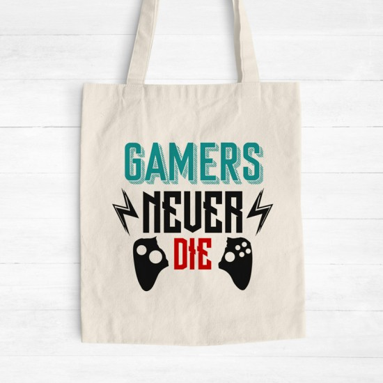 Gamers Never Die - Cotton Tote Bag