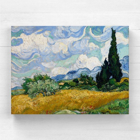Van Gogh - Wheat Field with Cypresses - Canvas Print