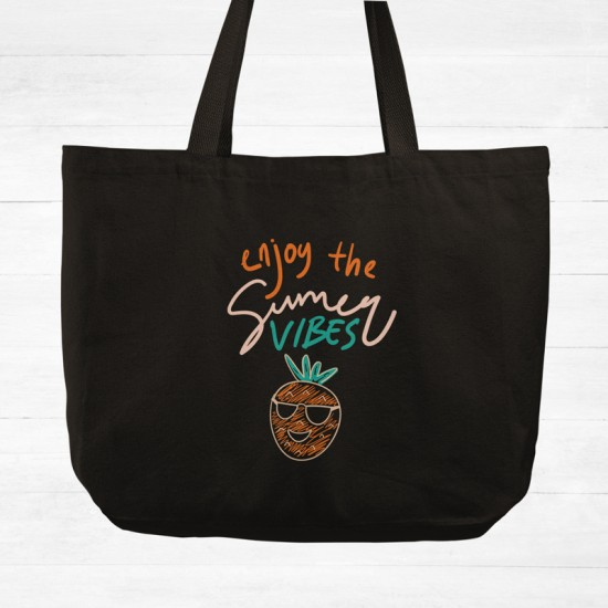 Enjoy the summer vibes - Cotton Tote Bag