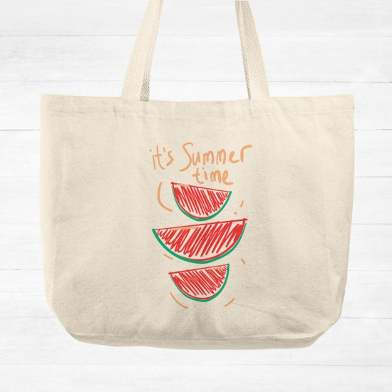 It's summer time - Cotton Tote Bag