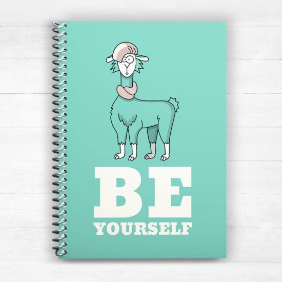 Be yourself - Spiral Notebook