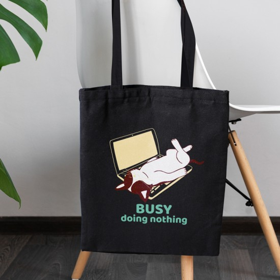 Busy doing nothing - Cotton Tote Bag