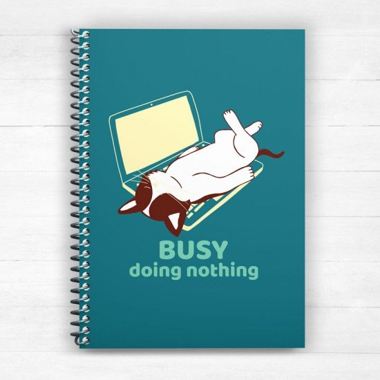 Busy doing nothing - Spiral Notebook