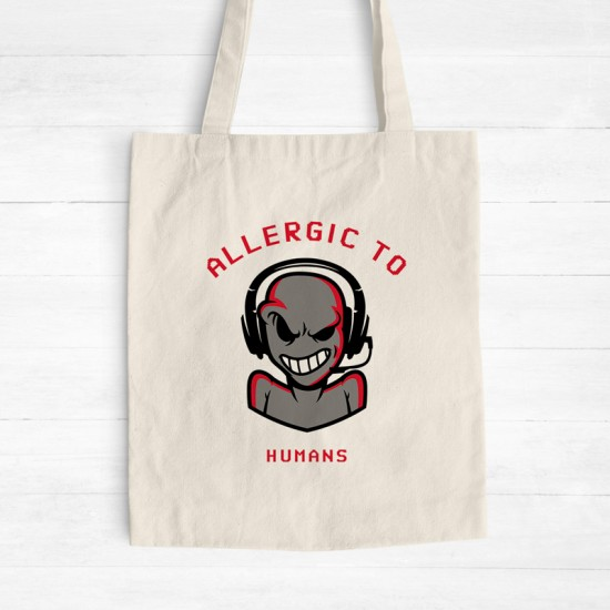 Allergic to humans - Cotton Tote Bag