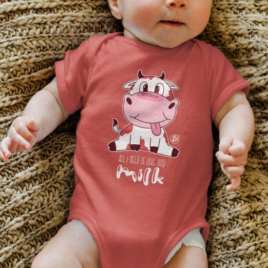 All I need is Love and milk - Baby Onesie