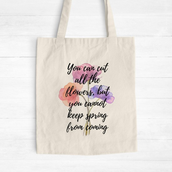 Spring flowers - Cotton Tote Bag