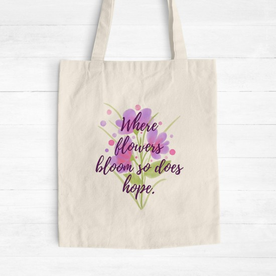 Blooming hope - Cotton Tote Bag