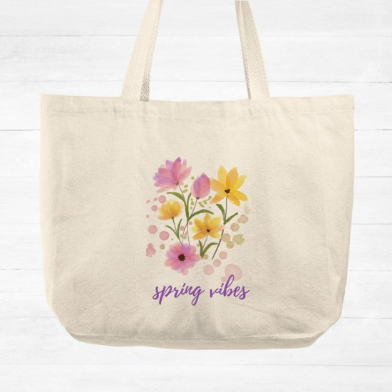 Spring vibes - Cotton Tote Bag