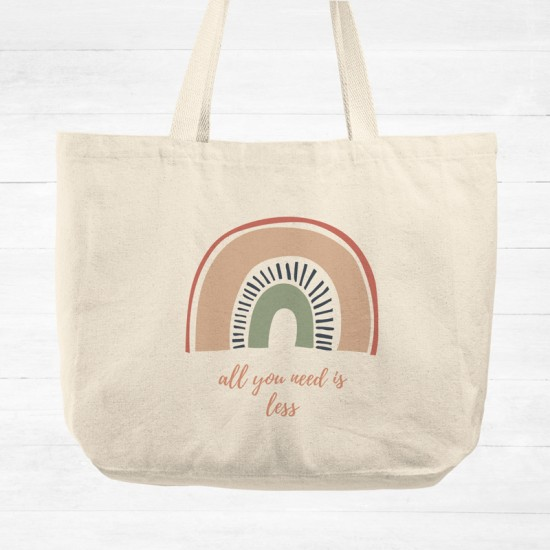 All you need is less - Cotton Tote Bag