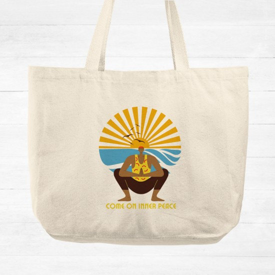 Come on inner peace - Cotton Tote Bag