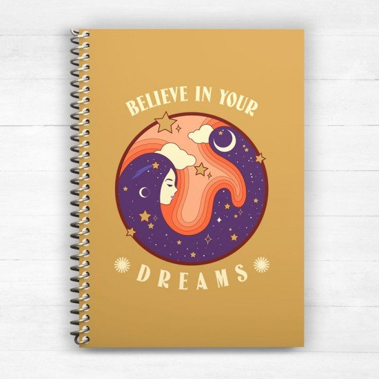 Believe in your dreams - Spiral Notebook