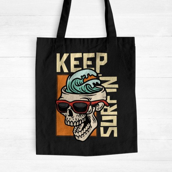 Keep Surfin - Cotton Tote Bag