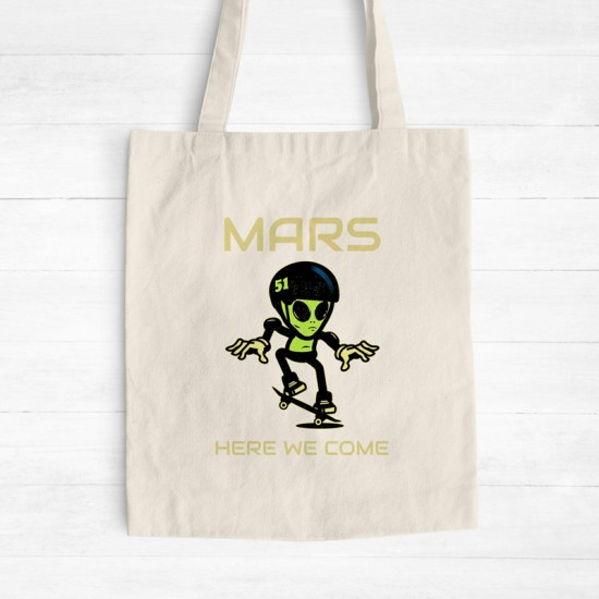 Mars here we come - Cotton Tote Bag