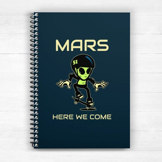 Mars here we come - Spiral Notebook