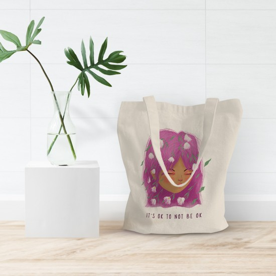 It's ok to not be ok - Cotton Tote Bag