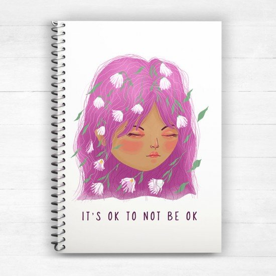 It's ok to not be ok - Spiral Notebook