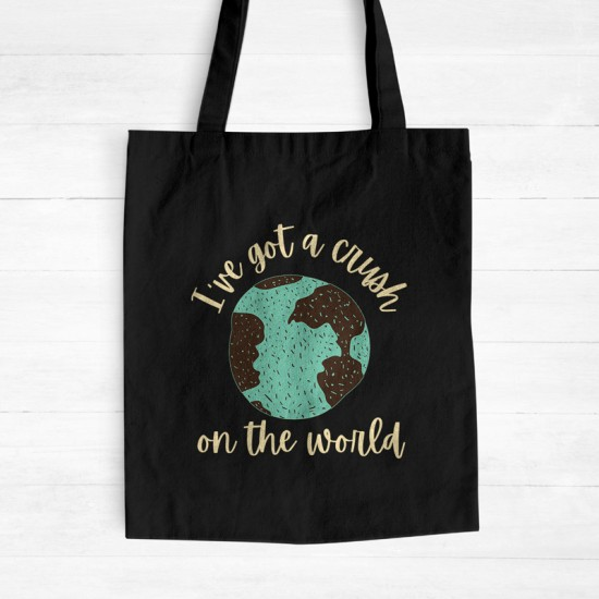 I've got a crush on the world - Cotton Tote Bag