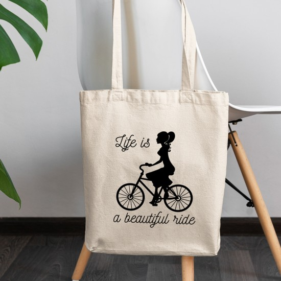 Life is a beautiful ride - Cotton Tote Bag
