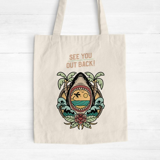 See you out back - Cotton Tote Bag