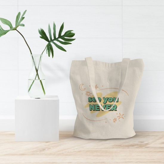 See you never - Cotton Tote Bag