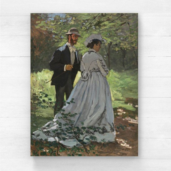 Monet Claude - Bazille and Camille - Canvas Print