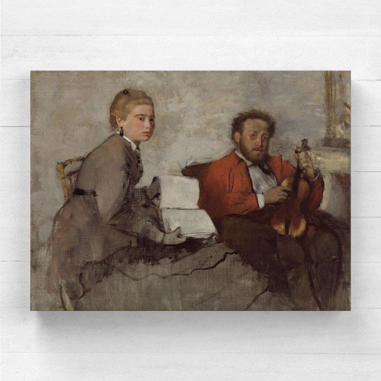 Degas Edgar - Violinist and Young Woman - Canvas Print