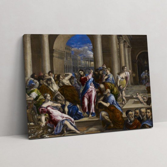 El Greco - Christ driving the money-changers from the Temple - Canvas Print