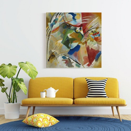 Kandinsky - Painting with Green Center - Canvas Print